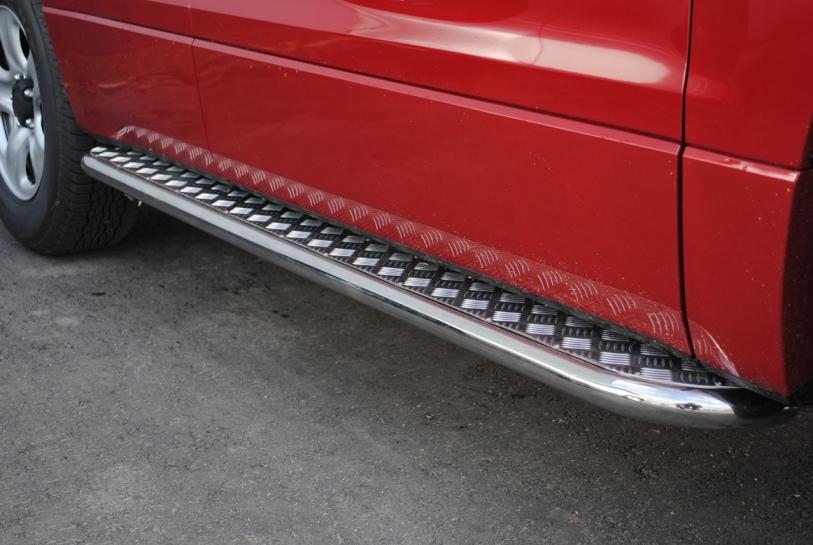 Пороги с алюминиевым листом диаметр 63